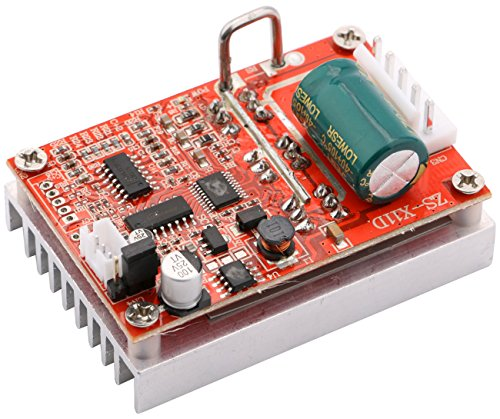 Yeeco DC 5-50V 380W High Power Motor Controller Driver Board, Brushless DC Motor Speed Regulator Control with Reversible Switch Forward/Reverse
