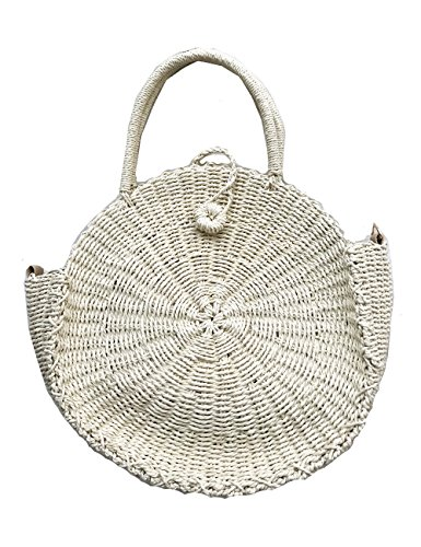 Straw Round Woven Tote Beach Bag ()