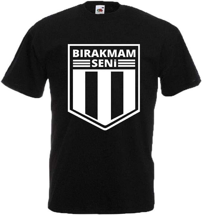 T Shirt Besiktas BIRAKMAM SENI Carsi T/ürkiye Istanbul Kara Kartal T-Shirt TS1027 Alternatif