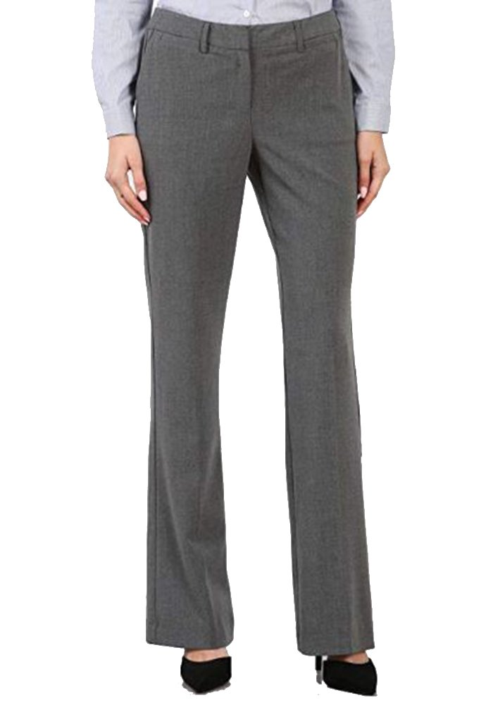 Maryclan Career Women's Dress Pants Little Boot Cut (Large, Charcoal)