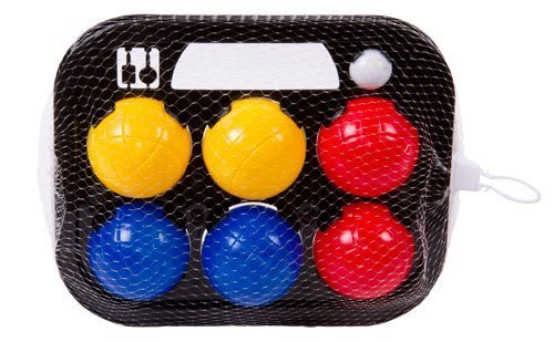 TOOLTOWN Classic Bocce Balls Set, Red/Blue/Yellow/White by TOOLTOWN
