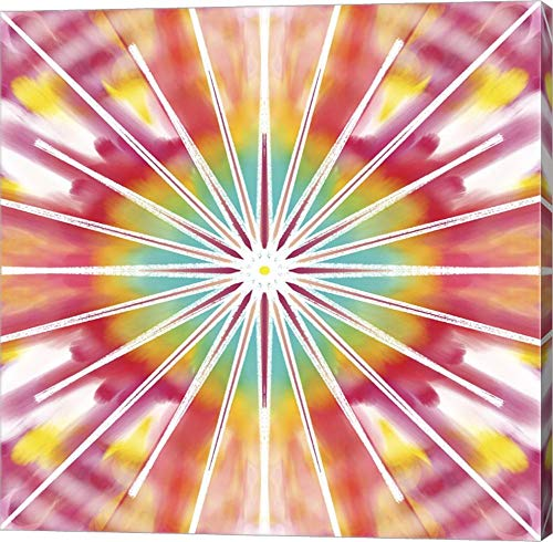 Rainbow Sunbursts by Deanna Tolliver Canvas Art Wall Picture, Gallery Wrap, 22 x 22 inches
