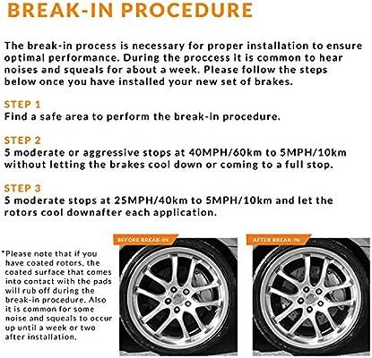 KT081231-1 Max Brakes Front Premium XDS Rotors and Ceramic Pads Brake Kit