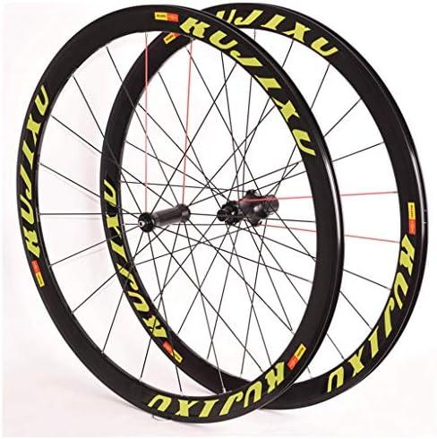 自転車ホイールセット700C ロードバイク用 ダブルウォールリム V-ブレーキ カードハブ 8-11速度 6シールドベアリング QR 2050g
