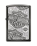 Zippo Harley-Davidson Logos Pocket Lighter, Black Ice