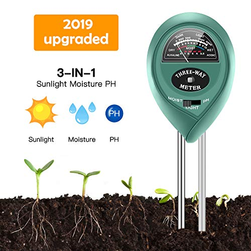 Soil Moisture Sunlight Ph Test Meter