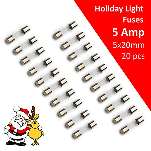 Replacement Fuses for C7 C9 Christmas Lights 5 Amp 110V 125V