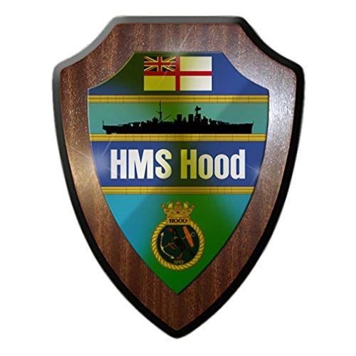 - HMS Hood Battle Cruiser Royal Navy Ship Battle Ship Coat of Arms Navy England The Mighty Hood Great Britain - Escutcheon / Wall Sign