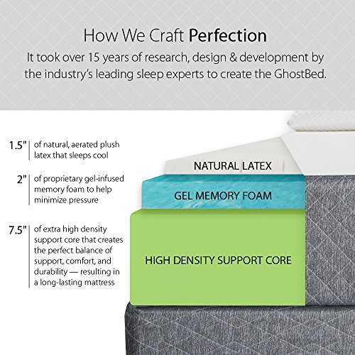 GhostBed 11-Inch King Latex & Gel Memory Foam Luxury Mattress