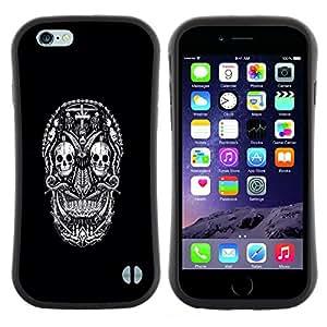 "Hypernova Slim Fit Dual Barniz Protector Caso Case Funda Para Apple (5.5 inches!!!) iPhone 6 Plus / 6S Plus ( 5.5 ) [Blanco Negro Ink Tattoo minimalista""]"