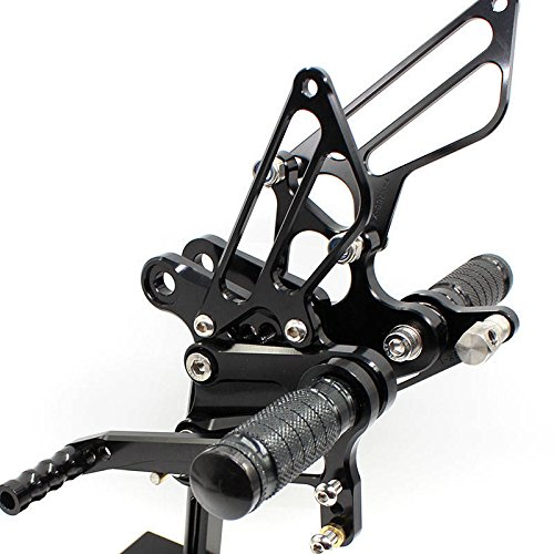 Rzmmotor Motorcycle Rear sets Adjustable Footpegs Rearsets fit for KAWASAKI Ninja ZX6R ZX636 2009-2015 US Ship Black