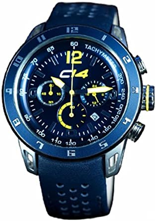Carbon 14 Herren-Armbanduhr Chronograph Quarz Leder E2.6