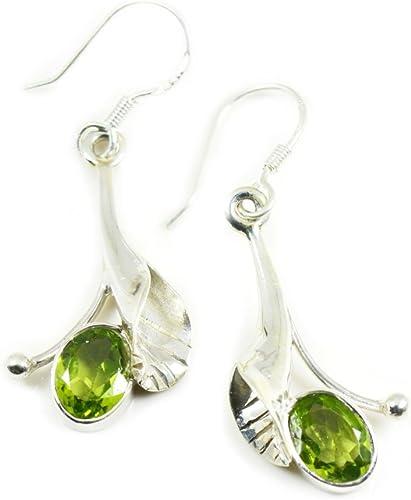 Gift for Her August Birthstone Earrings Peridot Crystal Sterling Silver Teardrop Earrings