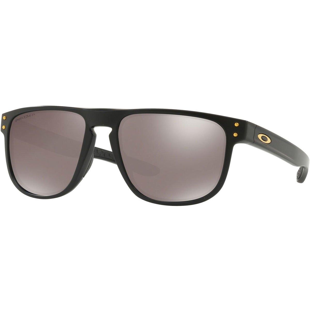 Oakley Men's OO9377 Holbrook R Square Sunglasses, Matte Black/Prizm Black Polarized, 55 mm by Oakley