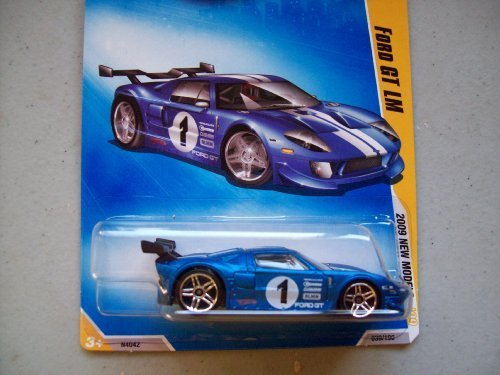 (Hot Wheels 2009 New Models Blue Ford GT LM)