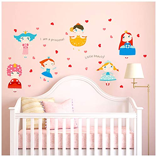 - HaokHome W-11001 Wall Decal Dancing Girls Wall Sticker Princess for Kids Room Bedroom Living Room Home Decor