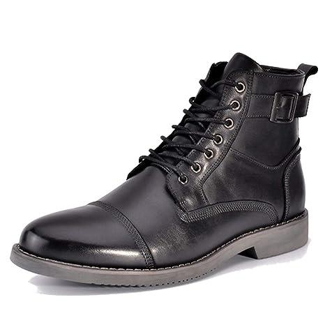 Stivali da Uomo Martin Abito Formale Stringato Scarpe in Vera Pelle Fibbia  Stivaletti alla Caviglia Attrezzi c3f5b30e810
