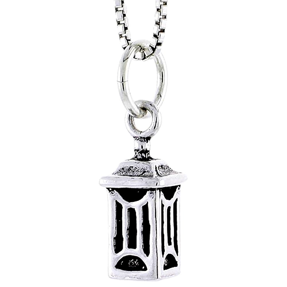 Sterling Silver Japanese Lantern Charm 1//2 inch tall