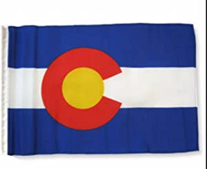 """Ruffin Flag Company State of Colorado 12""""x18"""" Sleeved Polyester Garden Flags"""