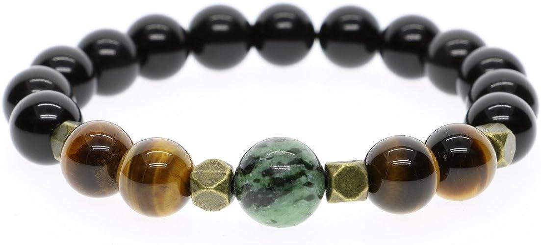 DiamondJewelryNY Double Loop Bangle Bracelet with a Cancer Awareness Charm.