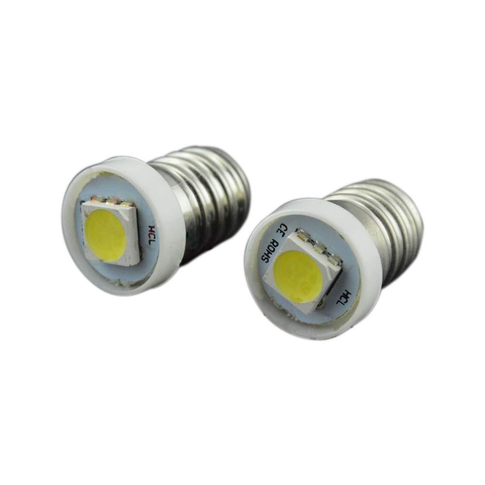 Ruiandsion 10 x lampadine LED E10 6000 K bianco 0.5 W DC 3 V 5050 chipset 1SMD LED lampadine per interni Torchlight torcia luce cruscotto Indicatior lampada Instrument panel Light Guangzhou Ruixin Lighting Technology Co.