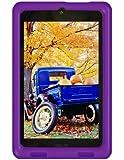 Bobj Rugged Case for ASUS MeMO HD 7 Models ME173X, ME173L, K00B - BobjGear protective tablet cover - Playful Purple