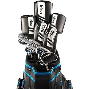Mens Idea Woods/Irons Sets 5Wds/6Irns/Putter/Bag Graphite, Regular