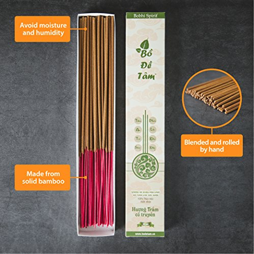Natural Agarwood Aloeswood Incense Sticks - Light Scent Incense Perfect for Worshipping, Aromatherapy, Meditation & Yoga - 68 Sticks, 11 inches, 200 Grams