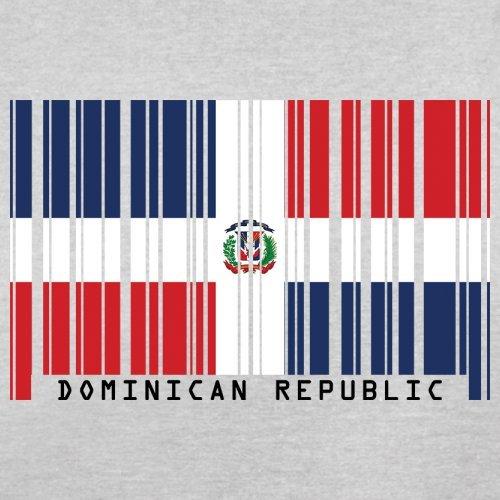 Dominican Republic / Dominikanischen Republik Barcode Flagge - Herren T-Shirt - Hellgrau - S