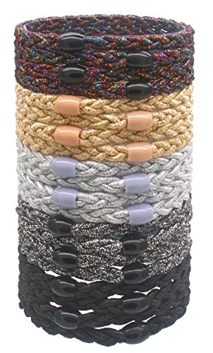 Fashion & Lifestyle 20 Pack Large Hair Ties Pony Ponytail Holders - Thick Solid Stretchy Elastic Hair Bands Boutique Woven Ropes for Girls Women and Ladies, (Acrylic Hair Band)