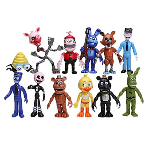 4 inches Set of 12 pcs Five Nights At Freddys Action Figures Toys Dolls Gifts Cake Toppers