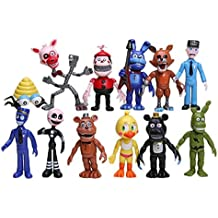 Fam Le Fun 12 pcs FNaF Five Nights at Freddy's Action Figures Toys Dolls, 4 Inch Cake Toppers Play Set