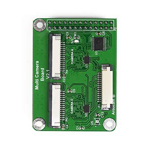 Arducam Multi Camera Adapter Module V2.1 for Raspberry Pi 3B+, Pi 3, Pi 2, Model A/B/B+, Work with 5MP or 8MP Cameras (Raspbian 9.8 Backward Compatiable, Do NOT Work with 9.9 Onward)