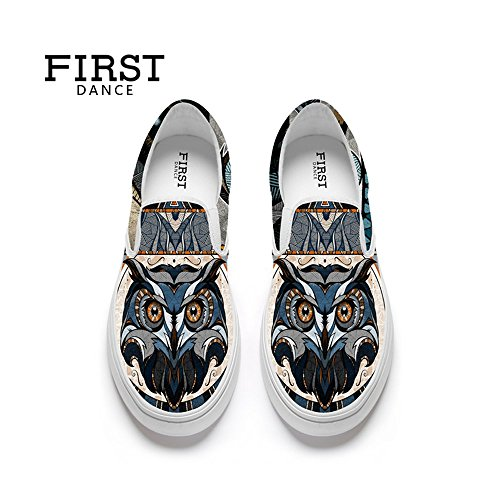 First Dance Funny Animal Prints Design Mocassini Casual Da Donna Appartamenti Moda Scarpe Di Tela Animali 6