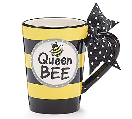 Oz Mug With Dot Handle 13 Boxed Polka Gift On Bee Coffee Queen Whimsical Bow eoCxdrB