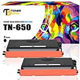 Toner Bank 2 Packs Compatible for Brother TN650 TN-650 TN580 TN-580 Toner Cartridges High Yield, Use with Brother HL-5370DW HL-5340D HL-5250DN HL-5240 Brother MFC-8890DW MFC-8480DN MFC-8860DN Printer