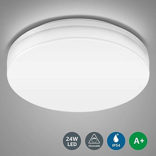Badezimmerlampe Neutralwei/ß IP54 Wasserfest Badlampe LE 24W LED Deckenleuchte Bad 2200lm Deckenlampe /Ø26.5cm K/üche 4000K Schlafzimmer Balkon Wohnzimmer Flur Lampen ideal f/ür Badezimmer