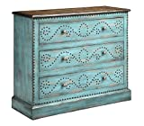 Product review for Stein World 13492 Ursula Turquoise Three Drawer Accent Chest