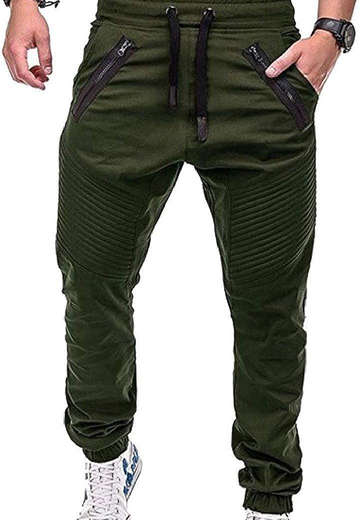 dahuo - Pantalones de chándal para Hombre, Ajustados, Informales ...