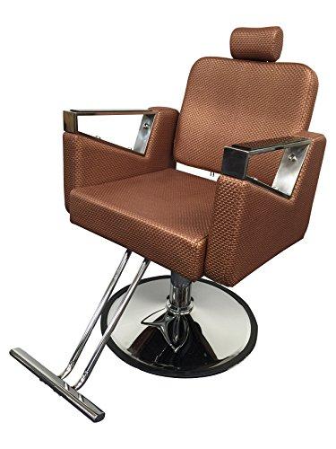 Rose Gold Executive Luxurious Reclining Hydraulic Salon Barber Beauty Spa Chair - Chrome Metallic Chair