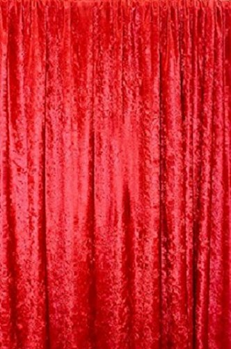 luvfabrics Panne Velvet RED Crush Velour Curtain Drape Panel Back Drop Made in The USA (96