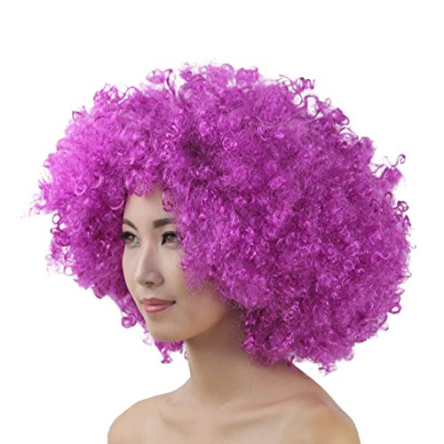 La moriposa Unisex 60s 70s Hippie Style Afro Wig for Halloween Costume Party