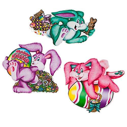 Pkgd Plush Easter Bunny Cutouts   (3/Pkg)