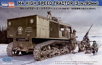 Hobby Boss 82407 M4 High Speed Tractor - Tractor blindado miniatura (escala 1:35, 3 pulgadas / 90 mm): Amazon.es: Juguetes y juegos