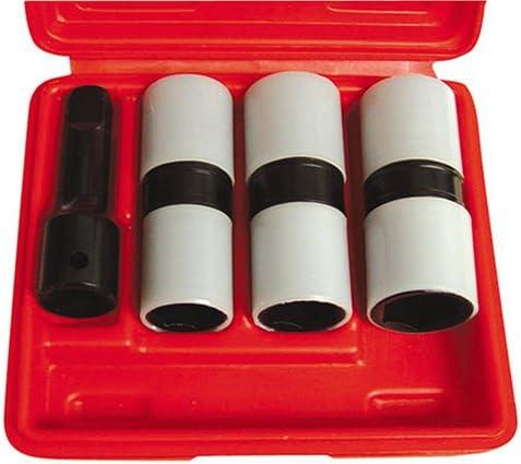 """Cartman Cr-Mo 5 Sockets 1//2/"""" Drive Impact Socket Set With Protective Sleeves"""