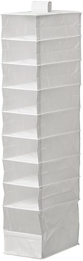 Ikea Storage organizer hanging 9 Compartments skubb White