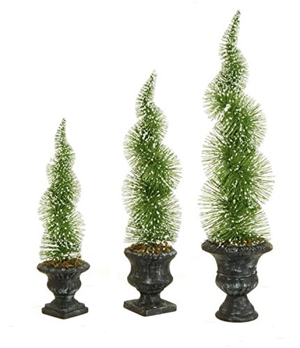 Sparkling Green Frosted Spiral Topiary Christmas Tree - Unlit ()
