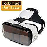 SMAVR 3D VR Immersive Headset Glasses, Virtual Reality Viewer Helmet Goggles, Private Theater for Movie & Games. Adjustable Pupil, Fit for Most Users via iOS & Android Phone within 4.7