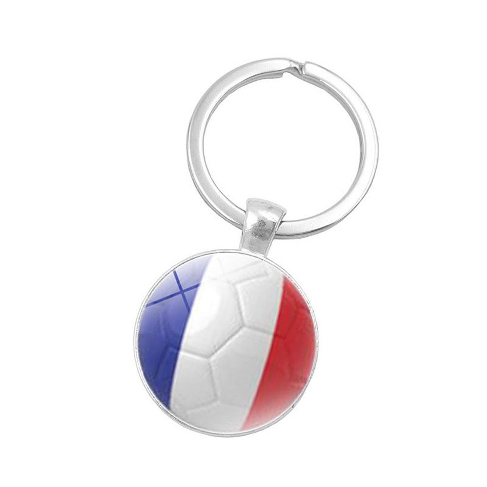 Fashion 2018 Russia World Flag Key  Chain Ring  Football Germany Argentina Team