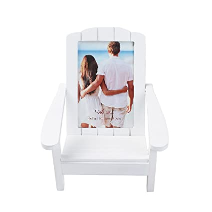 Aike Home Wooden Adirondack Chair Frame Shoreline Beach Relax Wedding  Holiday Birthday Display For 4x6 Inch